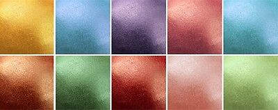 Rainbow Dust METALLIC EDIBLE SILK Lustre Dust 100% Edible Sparkle Glitter Powder