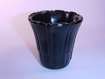 "Rarely Seen Akro Agate Black 3"" Slightly Flared Pot Ribs & Flutes"