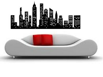 CITY SCAPE SKYLINE  VINYL WALL DECAL HOME DECOR LARGE SIZE