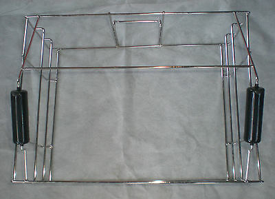 Basket,  double handle, for racks, fryer, stainless, 5004219