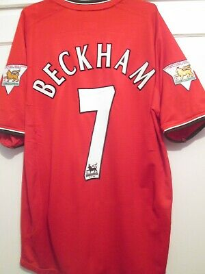 """Manchester United 2000-2002 Home Football Shirt Size Large 43"""" 15952"""