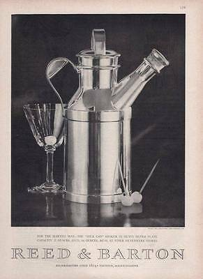 """1963 Reed & Barton PRINT AD features: Sterling Silver Martini """"Milk Can"""""""
