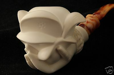 Rose in a Lady's Hand Carved Block Meerschaum Pipe in a fitted case pipa 5276