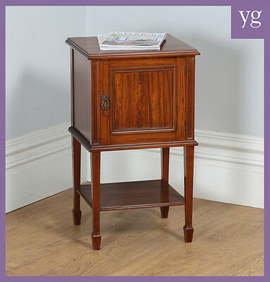 Antique Satinwood Mahogan Howard & Sons Bedsides Chest Cabinet Lamp Table Stand • £635.00