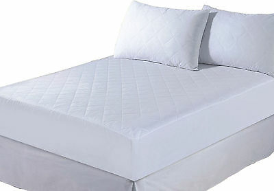 """New Quilted Luxuary Bed Mattress Protector Deep Fitted Washable Cover 12""""- King"""
