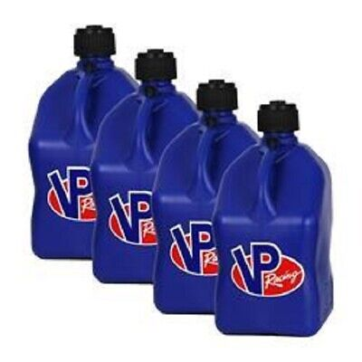 Vp Racing 5-Gallon Fuel / Water Jugs Can Utility Container Blue  Lot (2) W/hose