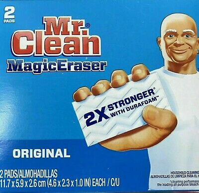 Mr. Clean MAGIC ERASER 2pk Multi Puropse Cleaning Sponges Kitchen Bathroom 43515