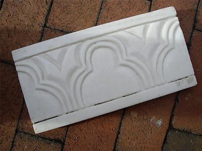 Architectural Salvage Art Deco Marble Key Stone Slab  from NYC Brownstone