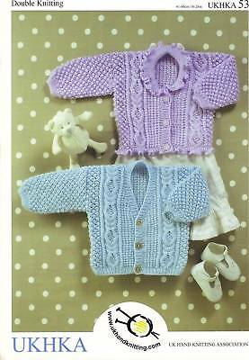 Childrens & Baby Cable & Textured Cardigans DK KNITTING PATTERN 0-6yrs UKHKA 53