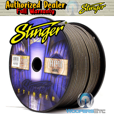 Stinger Shw516G-250 Hpm 16 Awg Gray 250 Feet Speaker Car Home Audio Cord Cable