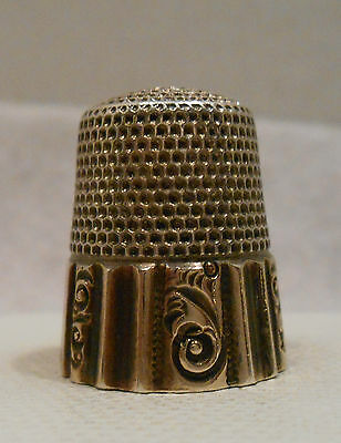 Antique 925 Sterling Silver & Gold Thimble by Ketcham & McDougall *Circa 1900s