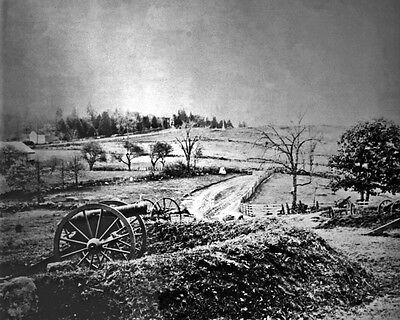 New 8x10 Civil War Photo: Barlow's Knoll on Gettysburg Battlefield, 1863