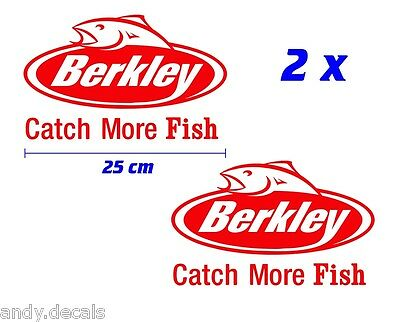 BERKLEY CATCH MORE FISH - Fishing Boat, Box Vinyl Decal Sticker