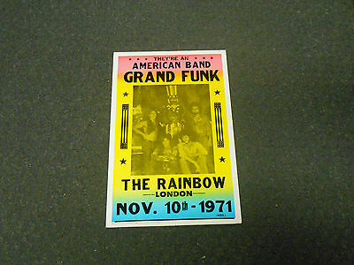 "Grand Funk ""american Band"" London 1971 Promo Tour Vintage Repro Poster!"
