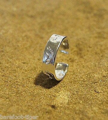 'Bare Feet' Sterling Silver Plated 15mm Girls/Ladies Toe Ring