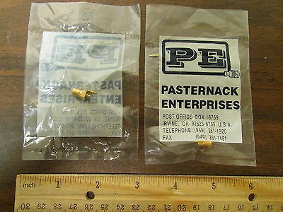 Pasternack Female SMA Coax Connector For 1mm Coax New