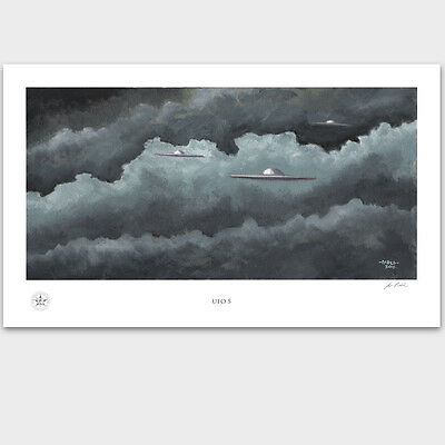 Area 51 Alien Spacecraft - Groom Lake - UFO - Artwork Poster Print - NASA, PADLO