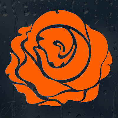 Beautiful Orange Flower Rose Car Decal Vinyl Sticker