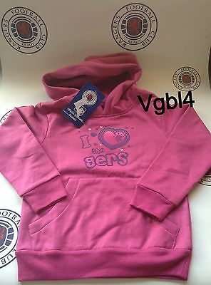 Glasgow Rangers Official Hoodie I Love The GERS Size 4/5 Years BNWT Bargain
