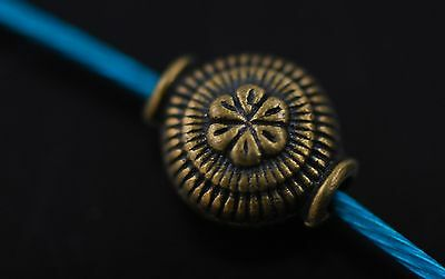 50Pcs Charms Tibetan Silver Craft Jewelery Finding Spacer Bronze Beads 9x7mm