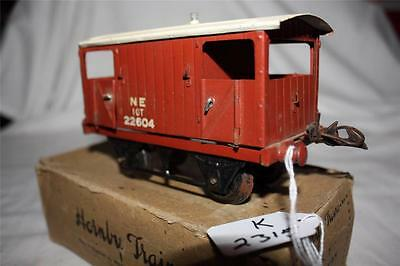 O GAUGE hornby  no1 goods van in old box [k2315]