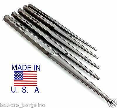 Wilde Tool 5pc Extra Long Taper Line up Drift Punch Set Professional MADE IN USA