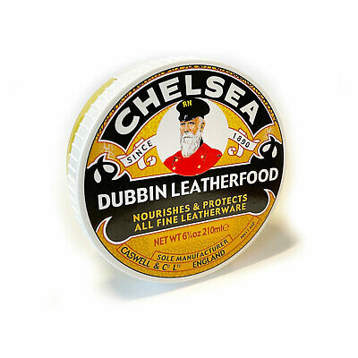 Chelsea Leather Food / Dubbin 210ml Single Tub Wax Oil Treatment Care Dressing