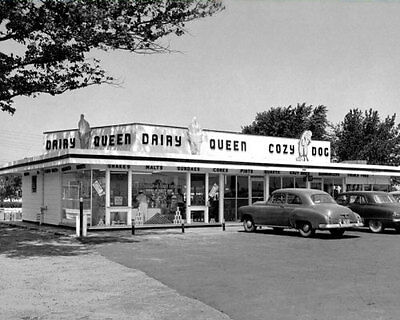 1950's Dairy Queen Photo 8X10 - Ice Cream Diner Restaurant  Buy Any 2 Get 1 FREE