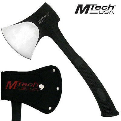M-tech Traditional 440 Stainless Steel Camping Axe - Black Hatchet #MT-AXE