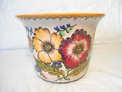 Art Pottery by Royal Gouda Areo Pattern Planter by Royal Gouda of Holland marked