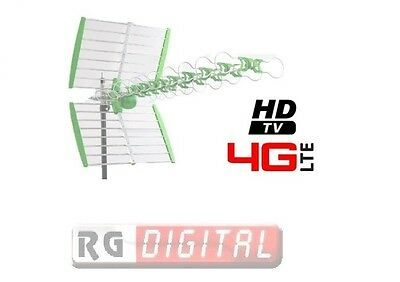 Antenna Tv Digitale Terrestre Esterna 4G Lte  Uhf Fm Radio Tv W38Dblte