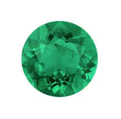 Natural Fine Green Emerald - Round  Diamond Cut - Brazil - Top Grade - Loose Gem