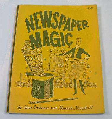 Newspaper Magic Gene Anderson Marshall Magician Softcover Book Tricks Booklet