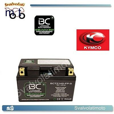 KYMCO 500 i R XCITING   07/11 BATTERIA A LITIO BC LITHIUM BATTERIES BCTZ14S-FP-S
