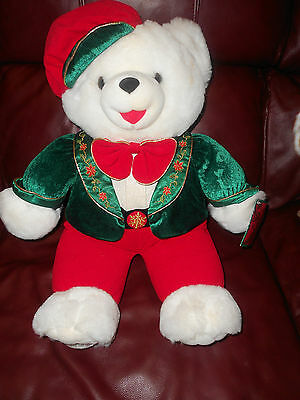 "2001 SNOWFLAKE BEAR NEVER PLAYED WITH BEEN IN STORAGE 25"" EUC"