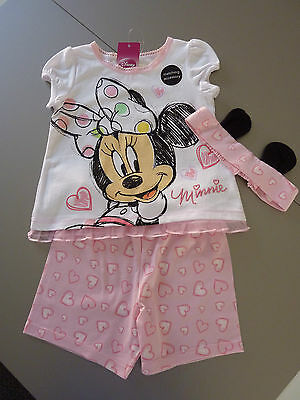 DISNEY Really Cute Minnie Mouse Girls 3 Piece PJ's 7-8 Years LAST ONE NWT