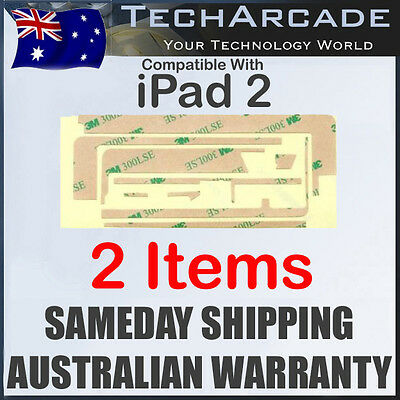 2X iPad 2 Gen Glass Screen LCD Digitizer Original 3M Double Sided Adhesive Tape