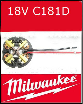 Milwaukee 18v Carbon Brushes for HD18PD,HD18DD,HD18DD Impact Driver 2650-20, MW1