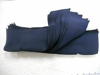 BULK COLLARS & CUFFS 100% cotton finished 3 sides 150 dark blue free ship
