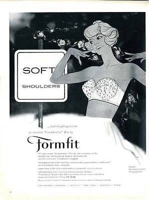 "1959 Formfit Womens Skippies Girdle Road Sign ""Soft Shoulders"" PRINT AD"