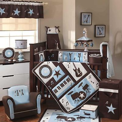 Rock 'N Roll 5 Piece Baby Crib Bedding Set by Lambs & Ivy