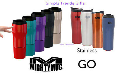 Mighty Mug GO SOLO Black Red Green Purple White Coffee Mug Won't Fall Over WOW!