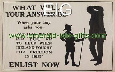 "1915 WW1 Recruitment Poster - Guilty Father & Son A4 Photo Print 11.7"" x 8.3"""