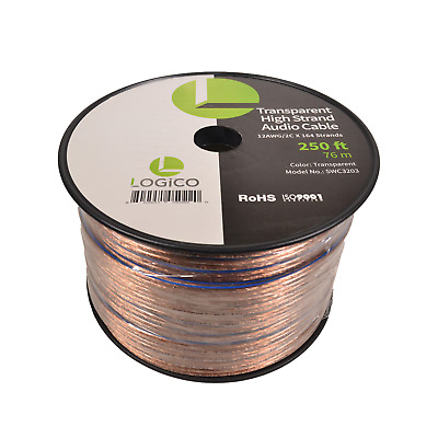 Car Home Audio Speaker Wire 12 Gauge 250 ft Audio Speaker Cable 12AWG 250'