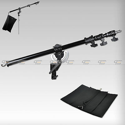 Metal Heavy Duty Photography Studio Boom Arm with Grip Head Clamp And Sandbag