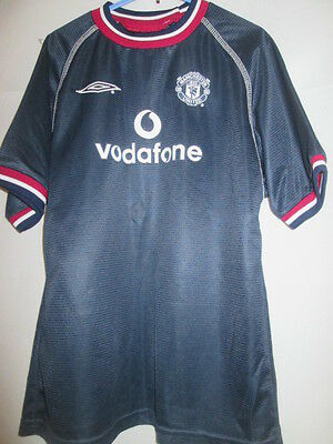 Manchester United 2000-2001 Third 3rd Football Shirt Small Boys /15207