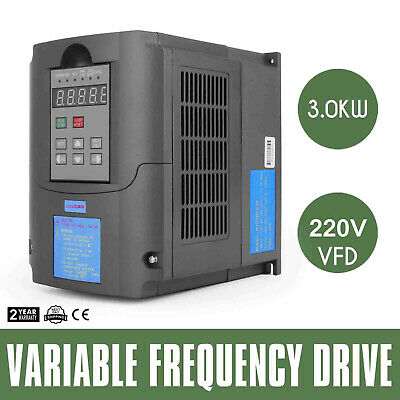 4HP 3KW 13A 220V VFD Variable Frequency Drive Inverter Motor Speed Control New