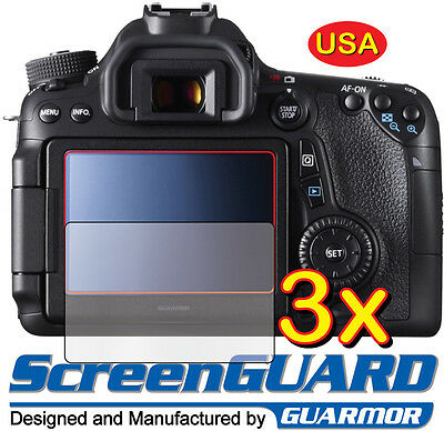 3x Clear LCD Screen Protector Guard Film DSLR Camera Canon Rebel EOS 70D 80D