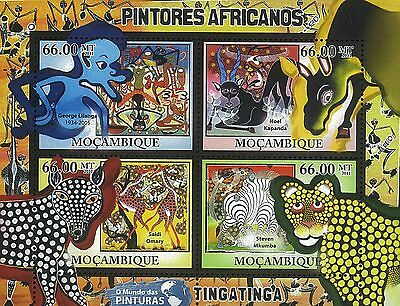 Mozambique 2011 Stamp, MOZ11501A Afrcan Paintings,George Lilanga,Art,S/S