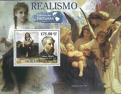 Mozambique 2011 Stamp, MOZ11511B Realism,William-Adoplhe Bouguereau,Famous Peopl